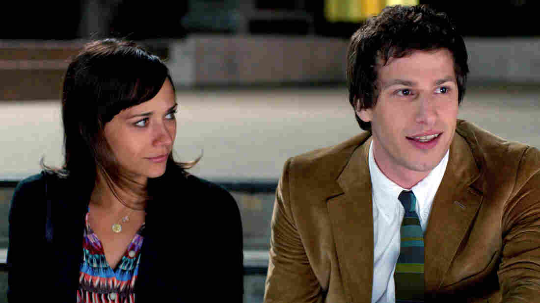 Celeste (Rashida Jones) and Jesse (Andy Samberg) are a separated couple who continue to hang out like best friends in Celeste and Jesse Forever. Jones also co-wrote the film.