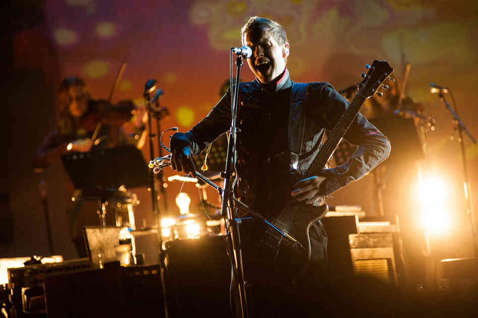 Sigur Ros performs at Celebrate Brooklyn's Prospect Park Bandshell on July 31, 2012.