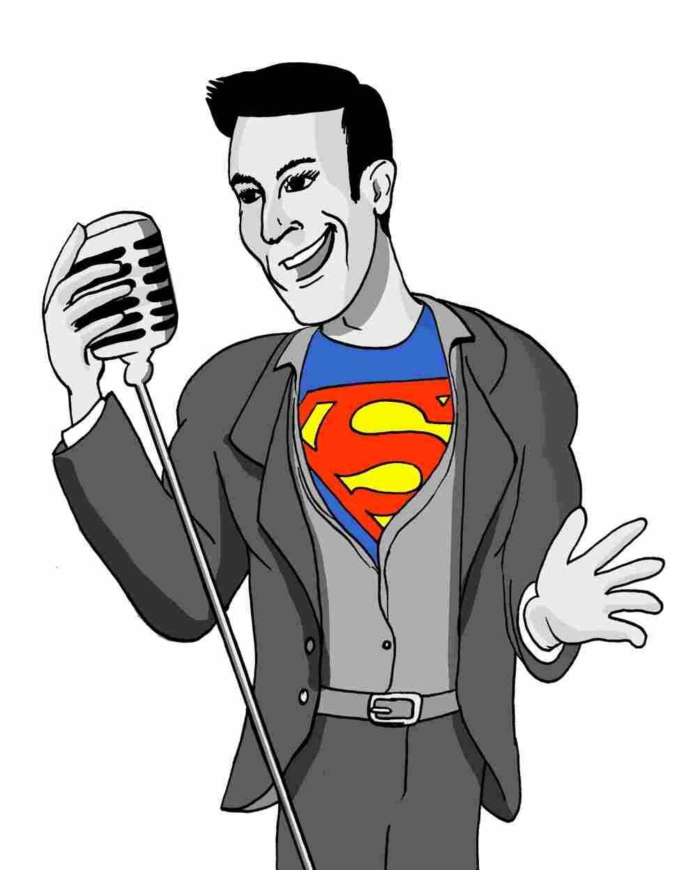 """Drawing of NPR's Ari Shapiro inspired by the GQ story, """"Desperately Seeking Mitt."""""""