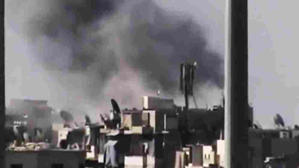 An image from amateur video released by Ugarit News purports to show Aleppo under fire. The AP cannot independently confirm the authenticity of the image.