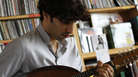 Avi Avital performs a Tiny Desk Concert at the NPR Music offices.