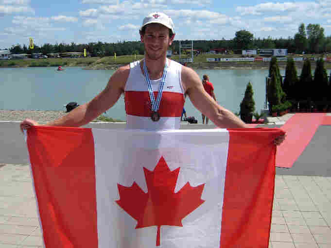 Canadian rower — and classically trained pianist — Michael Braithwaite hopes for gold Wednesday.