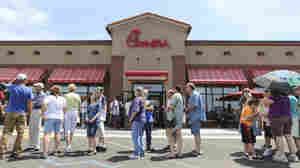 Chick-Fil-A Appreciation Day Brings Out Supportive Crowds