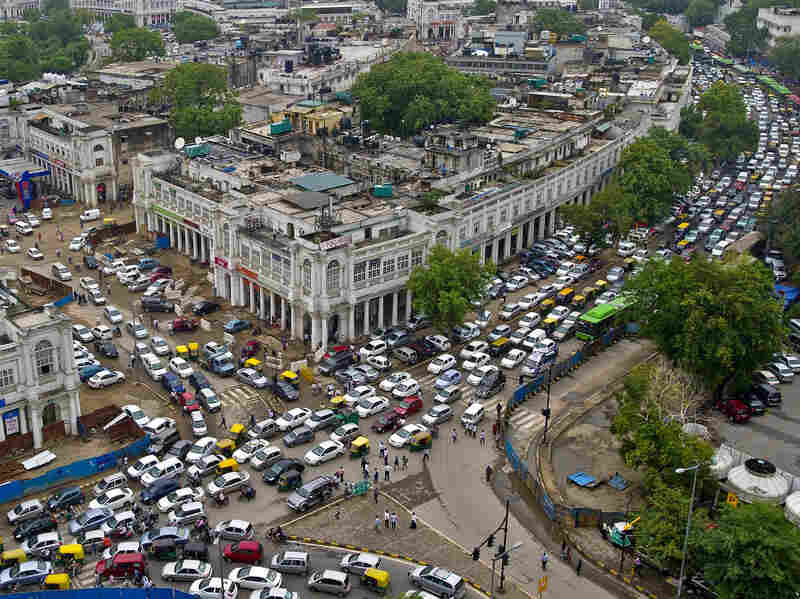 The traffic in New Delhi's Connaught Place was even worse than usual after the power went out Tuesday. But most Indians viewed the blackout as just one more inconvenience rather than a major crisis.