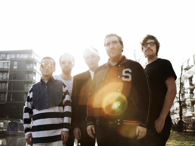 Hot Chip: (from left) Alexis Taylor, Al Doyle, Owen Clarke, Joe Goddard and Felix Martin.