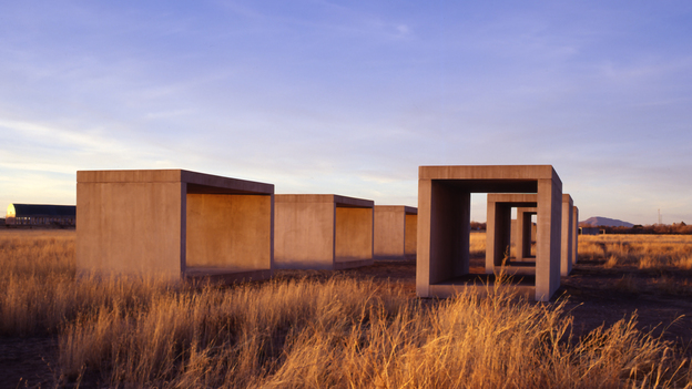In the 1970s, minimalist artist Donald Judd moved to Marfa, Texas, where he created giant works of art that bask beneath vast desert skies. In the years since, Marfa has emerged as a hot spot for art tourism. (Licensed by VAGA, New York, NY)