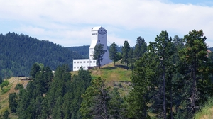 The entrance to the Sanford lab is through the Ross Shaft building of the old Homestake Mine in Lead, S.D.