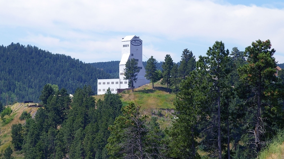 The entrance to the Sanford lab is through the Ross Shaft building of the old Homestake Mine in Lead, S.D. (AP)