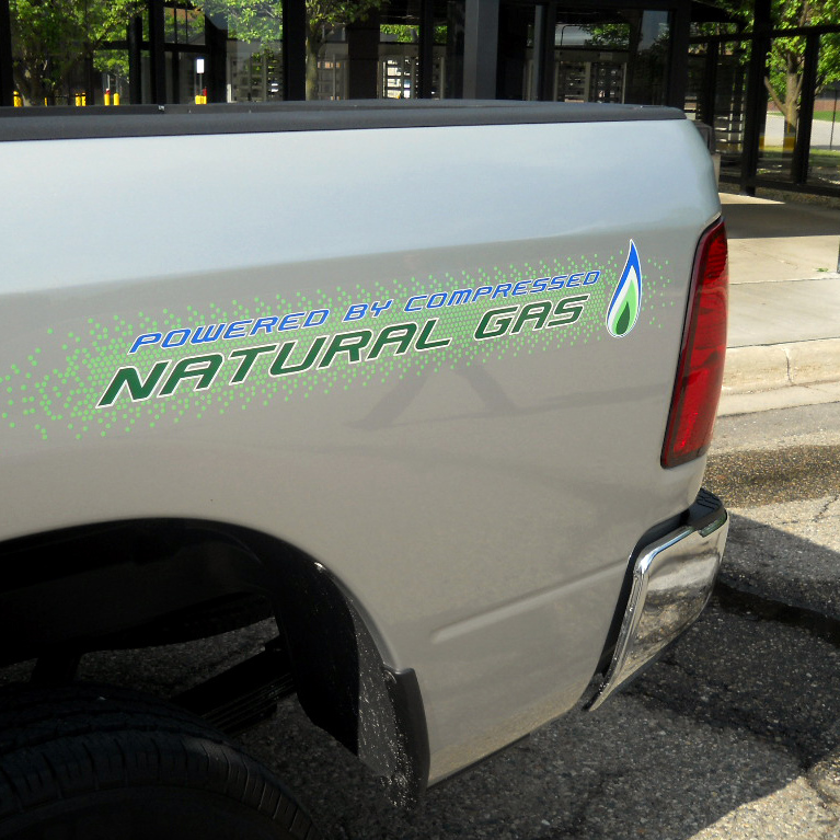 Dodge currently offers a CNG-fueled truck. A group of state governors hope Detroit will soon build CNG sedans, as well.