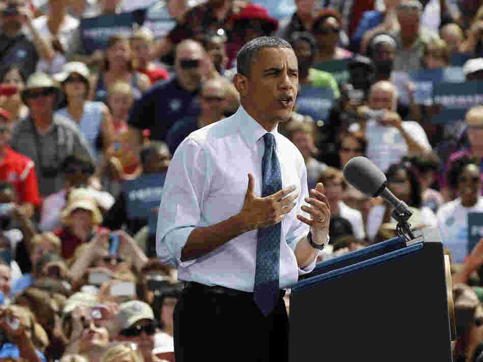President Obama argued in Mansfield, Ohio, that he was the true defender of middle-class voters.