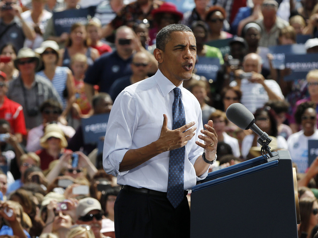 President Obama argued in Mansfield, Ohio, that he was the true defender of middle-class voters. (AP)