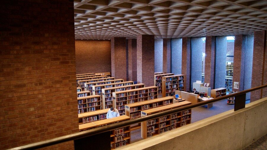 Modern Architecture Library columbus, ind.: a midwestern mecca of architecture : npr
