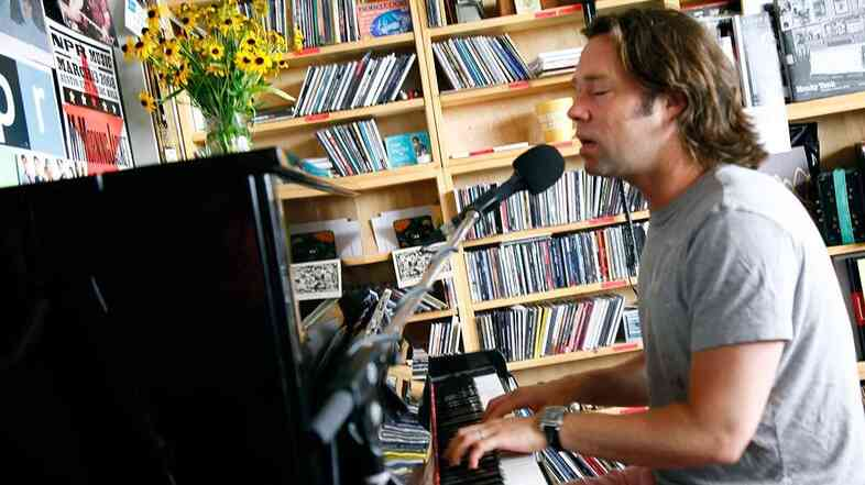 Rufus Wainwright performs a Tiny Desk Concert, at the NPR Music offices on July 24, 2012.