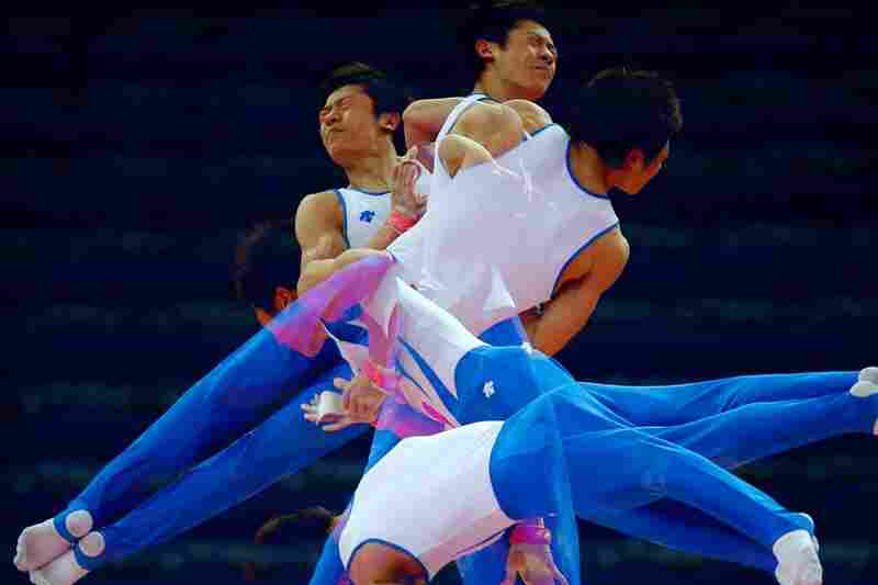 Kim Soo-Myun of the South Korean gymnastics team