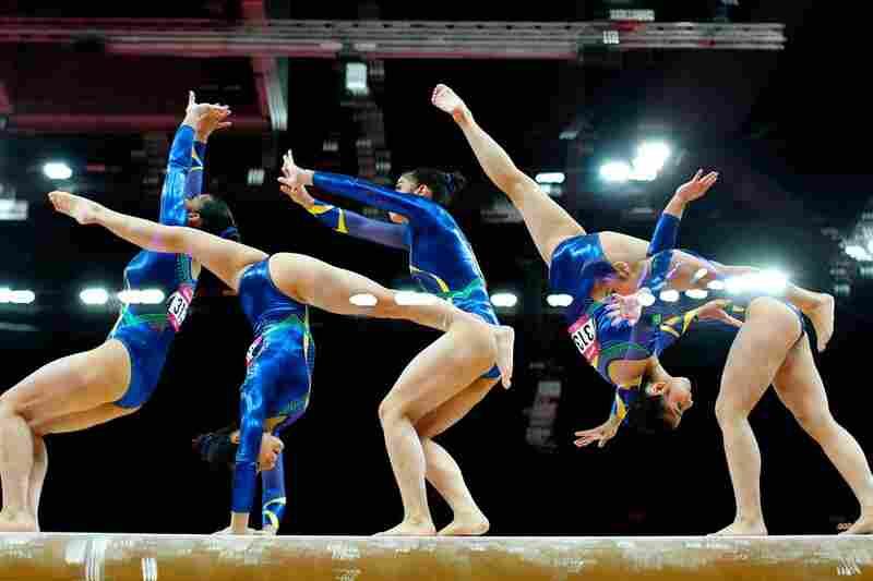Bruna Kuroiwa Yamamoto Leal of the Brazilian gymnastics team