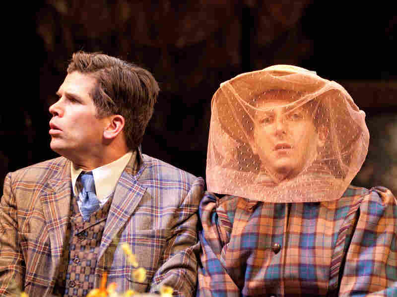 Mike Shara (left) as Cornelius Hackl and Josh Epstein as Barnaby Tucker in The Matchmaker, a play Thornton Wilder rewrote into its current form 50 years ago in Stratford .
