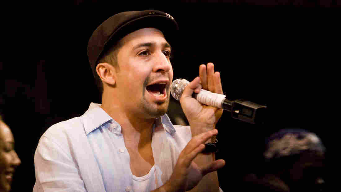 Lin-Manuel Miranda performs in his Tony-winning musical, In the Heights, in 2008 in New York City.