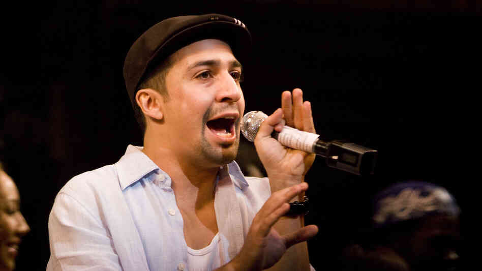 Lin-Manuel Miranda performs in his Tony-winning musical, In the Heights, in 2008 in New York Cit