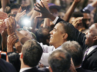 President Obama at a rally Thursday in Winter Park, Fla.