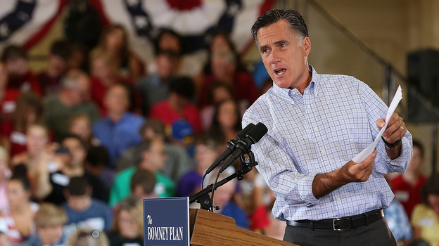 Republican presidential candidate Mitt Romney speaks during a campaign event Thursday in Golden, Colo.