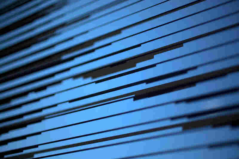 """Another type of glass planned for the construction is a specially designed patterned glass, visible from both inside and outside. The opaque lines are called """"frits"""" and are made of ceramic."""