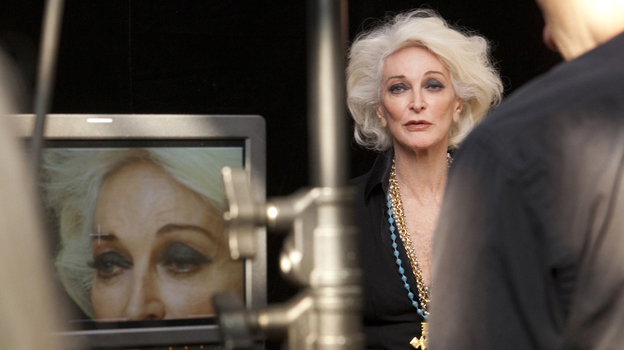 In About Face, former supermodels (including Carmen Dell'Orefice shown above) talk about what it's like to grow old in an industry that is obsessed with youth. (Courtesy HBO)