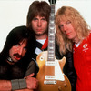 Harry Shearer (left), Christopher Guest (center) and Michael McKean play the British band Spinal Tap, created for Rob Reiner's 1984 mock rockumentary This Is Spinal Tap.