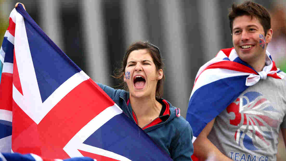 Great Britain, By Jingo!: Fans cheer Team GB at a rowing event in Windsor, England.