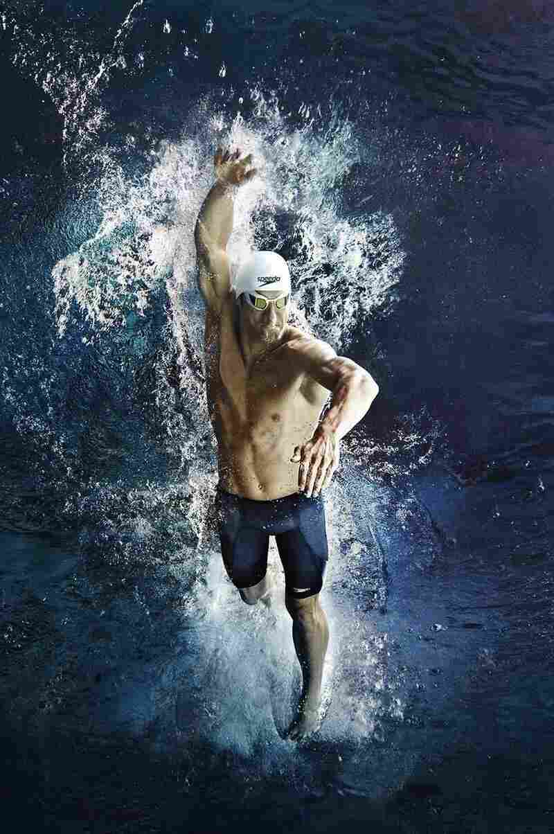 Speedo created a new fabric to compress a swimmer's body three times as much as the old LZR Racer suits. Michael Phelps can get into his Fastskin3 swimsuit in a couple minutes, Speedo research manager Joseph Santry says, but for first-timers, it can take much longer.