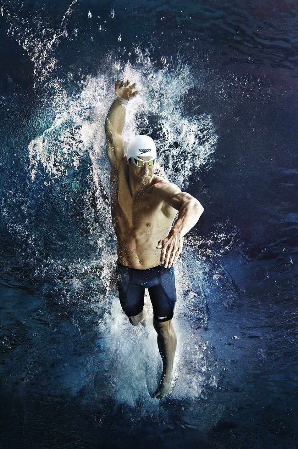 Speedo created a new fabric to compress a swimmer's body three times as much as the old LZR Racer suits. Michael Phelps can get into his Fastskin3 swimsuit in a couple minutes, Speedo research manager Joseph Santry says, but for first-timers, it can take much longer. (Courtesy Speedo)