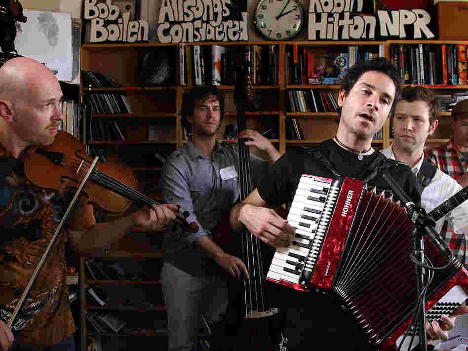 Rana Santacruz and band mates during their Tiny Desk Concert September 17, 2010.