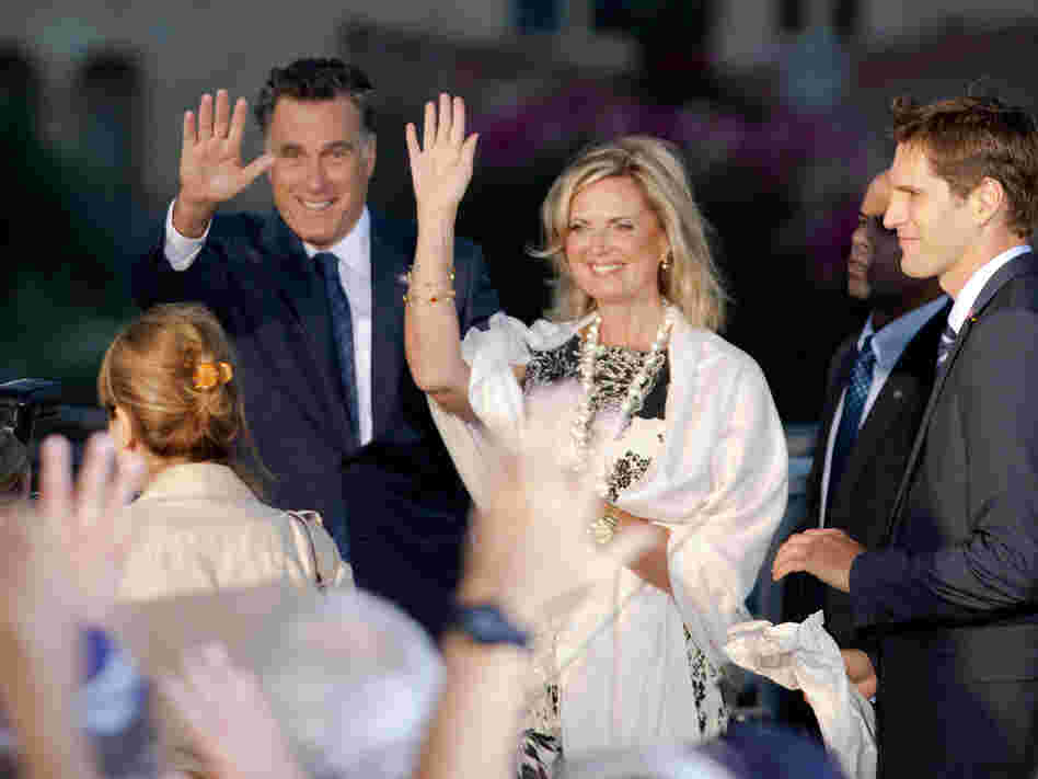 Mitt Romney and his wife Ann in Jerusalem on July 29.