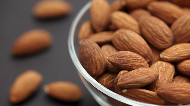 Almonds may have 20 percent less calories than previously thought. (iStockphoto.com)