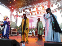 A Tuareg band from Mali, Tinariwen, performs in Nice, France, in July. The band has developed an international reputation and won a Grammy this year. <a href=