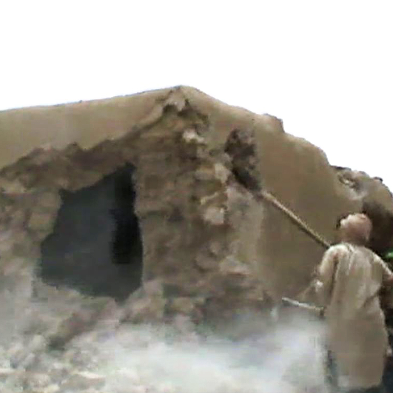This video still shows Islamist militants destroying an ancient shrine in Timbuktu on July 1. The International Criminal Court warned their campaign of destruction was a war crime.