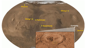 The Curiosity rover is being sent to explore Gale Crater, site of ancient water and modern-day mountains.