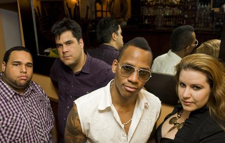 Conguero Pedrito Martinez (center right) and his group lead off NPR Music's coverage of the 2012 Newport Jazz Festival.