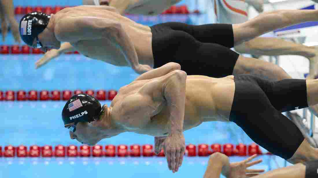 Swimmers Michael Phelps and Ryan Lochte deploy their muscles to win medals for the United States at the 2012 London Olympic Games.