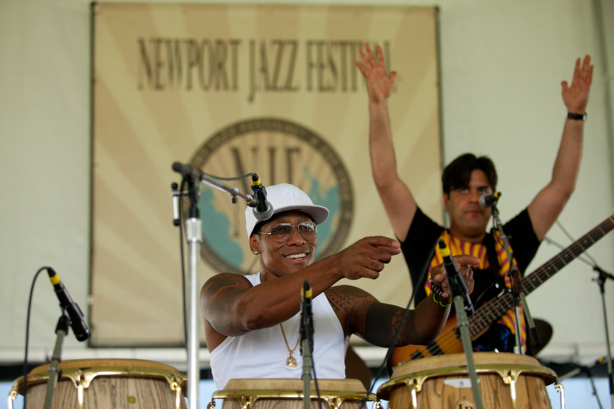 Behind the congas and microphone, Pedrito Martinez led a quartet which went way beyond what you'd think of Afro-Cuban music or jazz.
