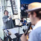 Darcy James Argue conducts his Secret Society at the 2012 Newport Jazz Festival.