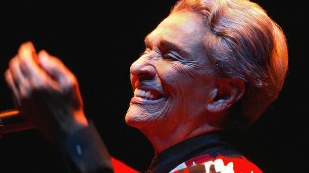 Chavela Vargas performing in Buenos Aires in 2004. (STR/AFP/Getty Images)