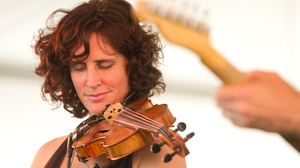 Violinist Jenny Scheinman performs at the 2012 Newport Jazz Festival.