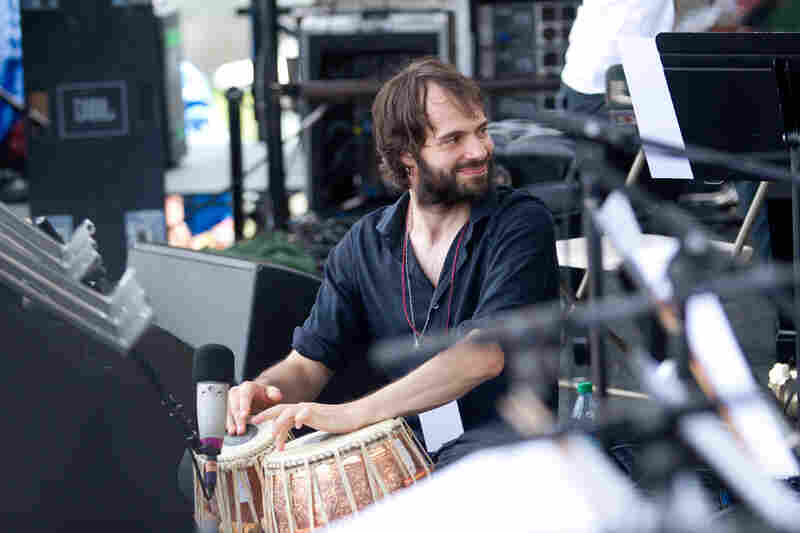 Tabla player Dan Weiss was one of 24 musicians who appeared on stage for Ryan Truesdell's Gil Evans Centennial Project. Weiss would later play both tablas and drum set with Miguel Zenón and Laurent Coq's Rayuela Quartet.