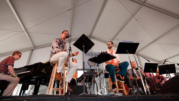 John Hollenbeck's Claudia Quintet performs at the 2012 Newport Jazz Festival.