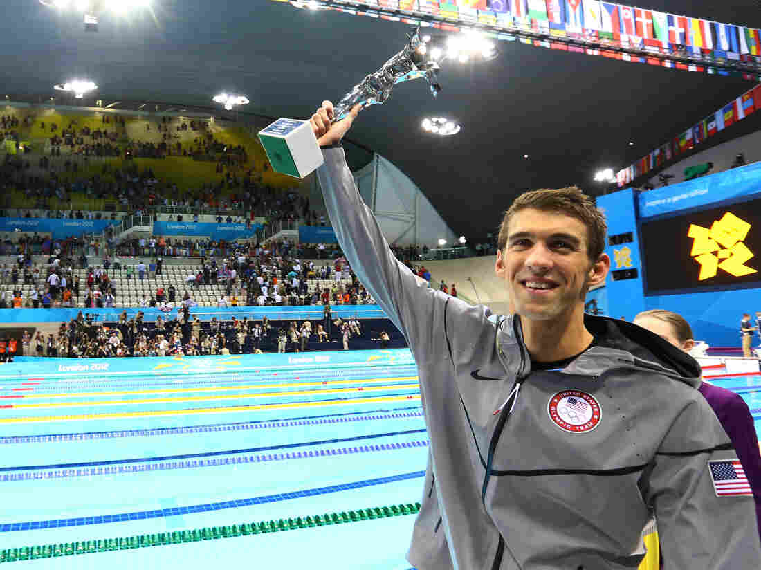Michael Phelps and the special award he received Saturday night to mark his Olympic achievements.