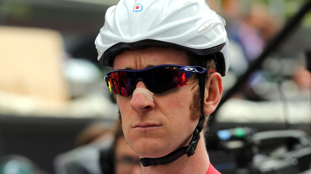 Bradley Wiggins of Great Britain before a road race on Day 1 of the Olympics. (Getty Images)