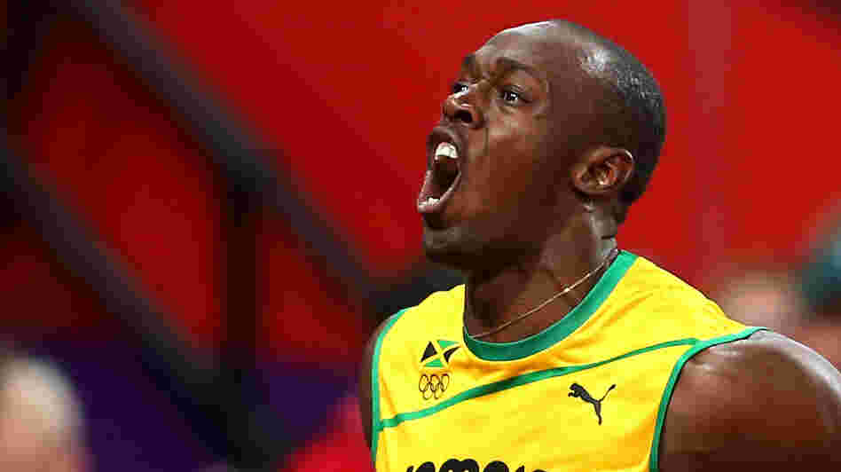 Usain Bolt of Jamaica celebrates winning gold in the Men's 100m Final yesterday. If you get your Olympics coverage on television, you didn't see it live.