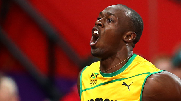 Usain Bolt of Jamaica celebrates winning gold in the Men's 100m Final yesterday. If you get your Olympics coverage on television, you didn't see it live. (Getty Images)