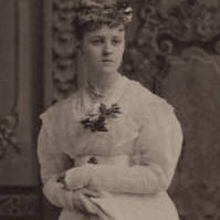 Edith Wharton at about age 15, taken in the New York studio of Jose Mora.