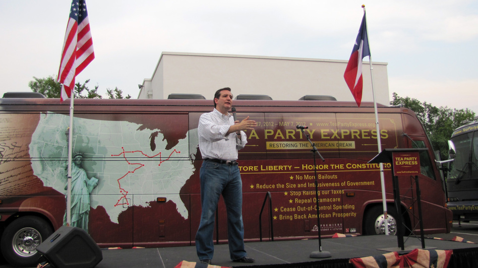 Ted Cruz, Republican candidate for the U.S. Senate, speaks at a rally organized by the Tea Party Express in San Antonio in May. (AP)